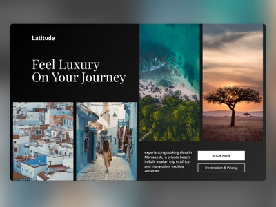 Latitude - Luxury Travel Service travel landing page figma design webdesign ui indonesia