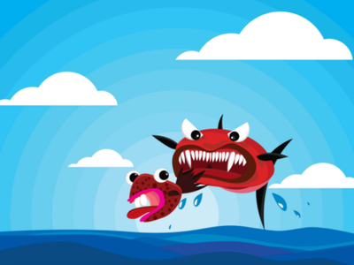 Nature Life In The Sea design design graphic drawing animate digitaldraw illustration cartoon ocean fish