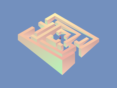 Maze west word infinity mystery ui illustration labyrinth gradient design isometric maze
