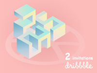 Scored 2 invitations from Dribbble.