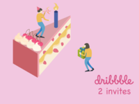 2 Dribbble invite