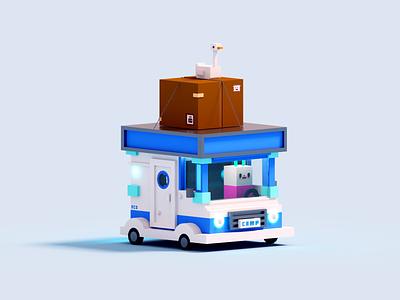 🚙 truck duck drive car voxelart render voxel 3d illustration