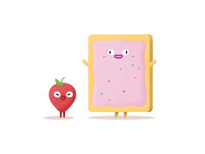 Strawberry Poptart poptart strawberry food illustration