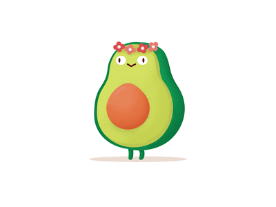 🥑 food fruit avocado illustration