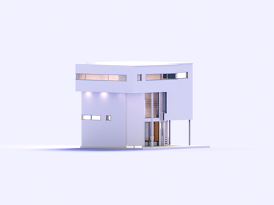 Duo House 3d art modern magicavoxel architecture house voxelart minimal render voxel 3d illustration