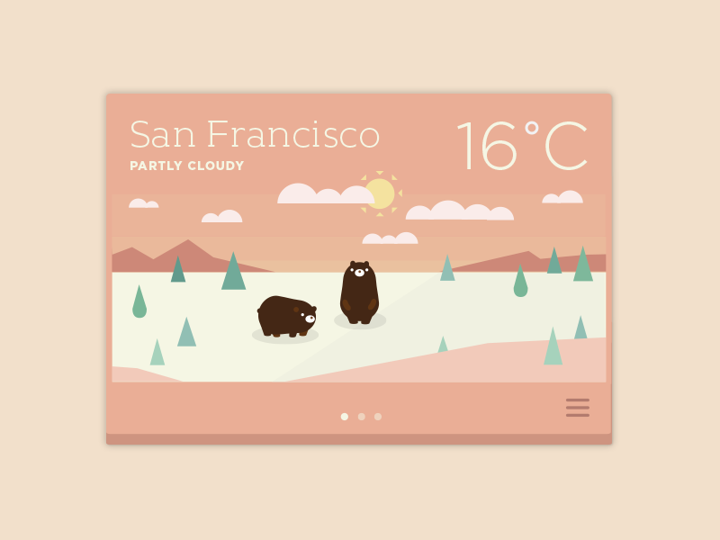 Partly Cloudy by Joanna Ngai | Dribbble | Dribbble