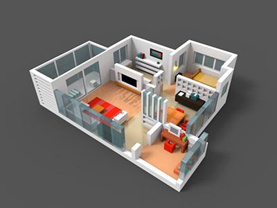 Interior room interior 3d floor plan