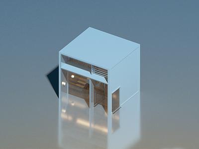 Minimal House II voxelart minimal voxel isometric architecture house illustration 3d