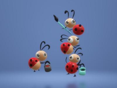 3d Ladybug 🐞