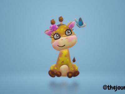 3d giraffe ❤️