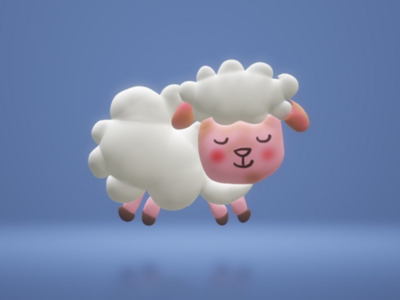 3d 🐑 sheep