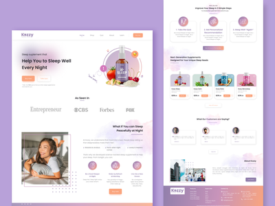 Supplement Product Landing Page landingpage web website design uxdesign ux uiux uidesign ui productdesign