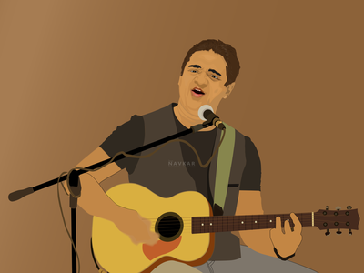 Suraj Mani vector art vevtor artwork graphic art inlyfmusic inlyf gutarist singer