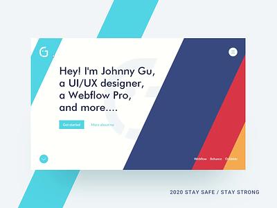 2020, New version of personal site ui logo design landing page webflow web typography clean ui minimalism branding