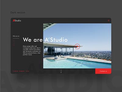 Landing page of a  architectural design studio minimalist design homepage landing page web webflow branding minimalism clean ui logo ui  ux ui design ui webdesign architechture studio website typography