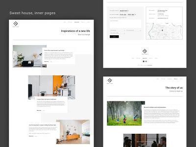 Sweet house inner pages ux studio ui webflow typography minimalism clean ui web design branding