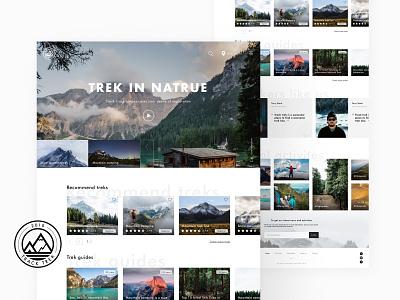 Track trek home page traveling ux ui logo landing page homepage typography clean ui design minimalism branding