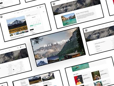 Track trek presentation typography clean ui minimalism design branding