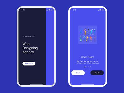 Flatomedia Web Design Agency company ux ui illustration branding logo color social media startup flat debut design