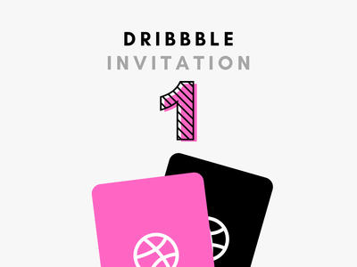 1 DRIBBBLE INVITATION inspiration interaction black interface ui illustration flat debut invitation invite