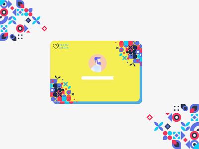 New Identity Card Concept for Flatomedia Studio vector branding flat startup illustration ui  ux brand cards ui card design identity