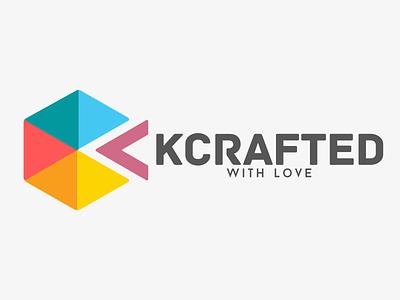 Kcrafted with Love - Logo Design logo design k c kit kc color web debut icon typography vector branding illustration flat design uidesign ui logo kcrafted