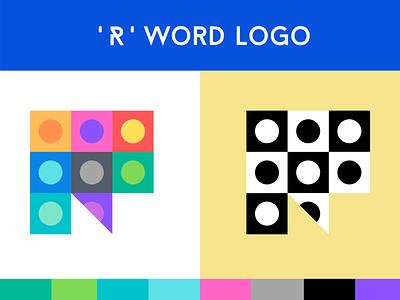 United R - Word Logo brand vector icon startup media flat typography illustration branding ui logo design