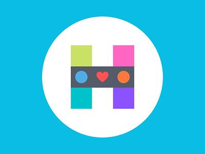 H Design Word Logo illustration flat icon typography ux ui vector branding logo design