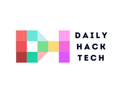 Logo Design & Branding - DailyHackTech digital art debut trademark brand icon typography vector branding logo illustration digital illustration digital dailyui dht flat design