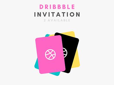 Dribbble Invitation Available for 2 web social logo invite illustration ui branding designer dribbble join available invitation debut