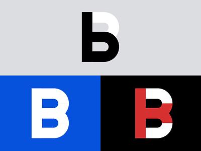 "Simple ""B"" Alphabet Design Logo icon typography design vector logo flat illustration branding b monogram b b letter alphabet b logo"