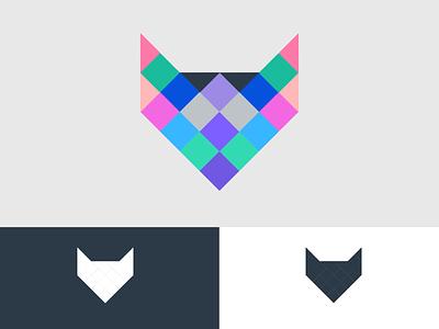 Fox Block Logo Design resources minimal apple clean x o f fox icon uxui ux branding typography vector logo illustration flat debut dribbble design