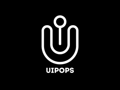 UIPOPS - A Design Studio ui media branding startup logo illustration flat debut agency firm studios design
