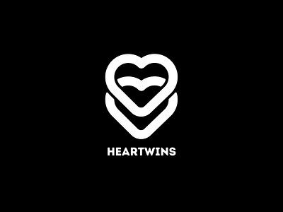 HEARTWINS - Logo Concept for Jewellery Market design logo illustration ui branding heart logo heart