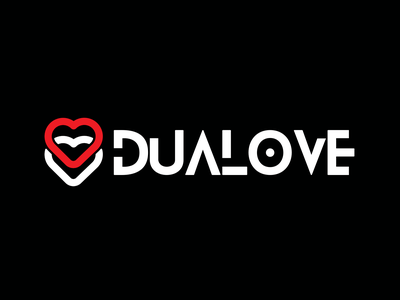 DUALOVE - Logotype in progress minimal debut typography vector icon ui branding logo illustration design