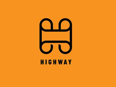 HIGHWAY - Logotype social web debut typography icon ui branding logo illustration design