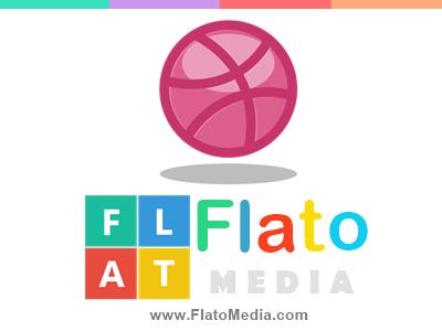 Flatribbble Designed FlatoMedia Logo flat design dribbble media flato png ui responsive