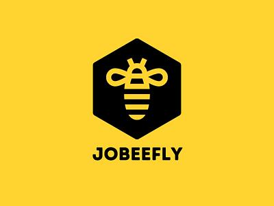Jobeefly - Jobs Flying Angel brand identity brand design branding logo job listing find a job startup jobsearch job board jobs job