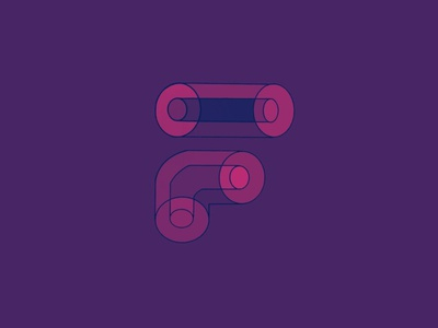 "Got inspired, Remake of ""F"" word Logo minimal ux icon illustration vector ui branding logo flat design"