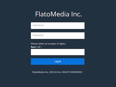 Login Area Of Flatomedia dribbble login flat flato internet design startup debut web web design graphic design front end design