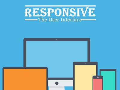 Responsive - The Web Interface dribbble internet web user interface shot debut invite flat design flatomedia flato