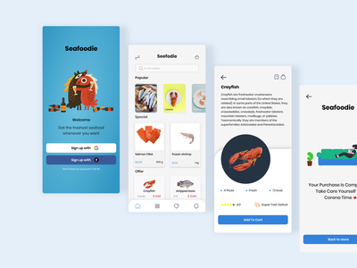 Seafood Delivery app delivery design web ux ui