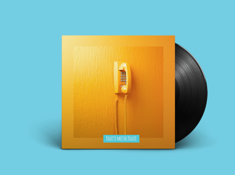 Album cover: Khatti meethi baate retro design vinyl cover vinyl record music art abstract design minimal cover cover artwork cover design cover art album cover design album cover album art covers