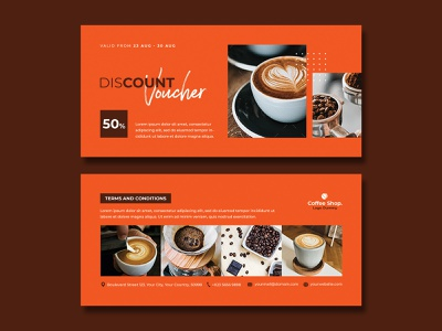 Gift Voucher Coffee discount voucher coffee voucher template voucher price modern loyalty card hot gift voucher elegant drink door prize discount cup coupon company coffee beans coffee card business beans