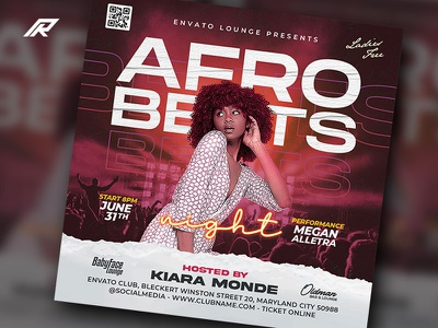 Night Club Flyer afro corporate flyer