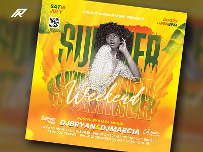 Summer Party Flyer dj flyer