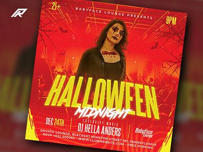 Halloween Flyer halloween party horror party dj flyer