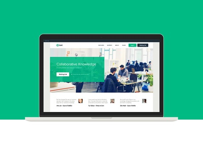 Landing page product design marketing responsive homepage green white beige