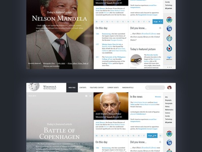 Wikipedia – Main page  redesign wikipedia web. concept clean typography typo