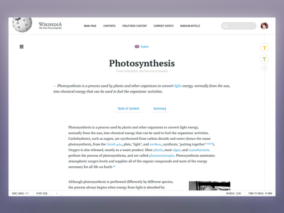 Wikipedia - Article view clean typography typo redesign web concept wikipedia